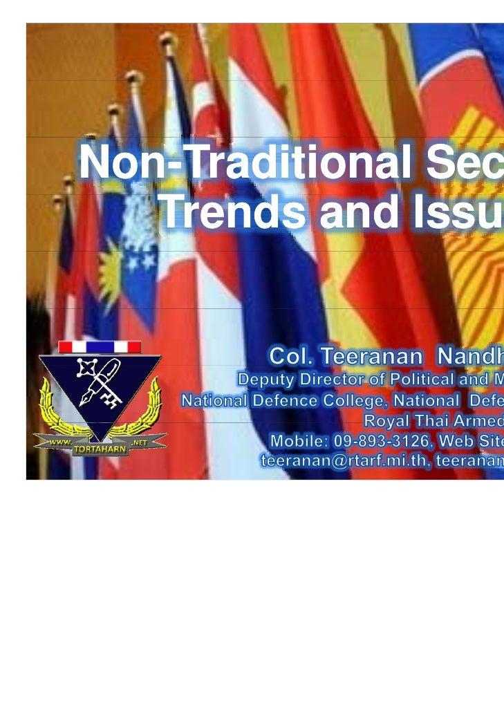 Non traditional security (asean)
