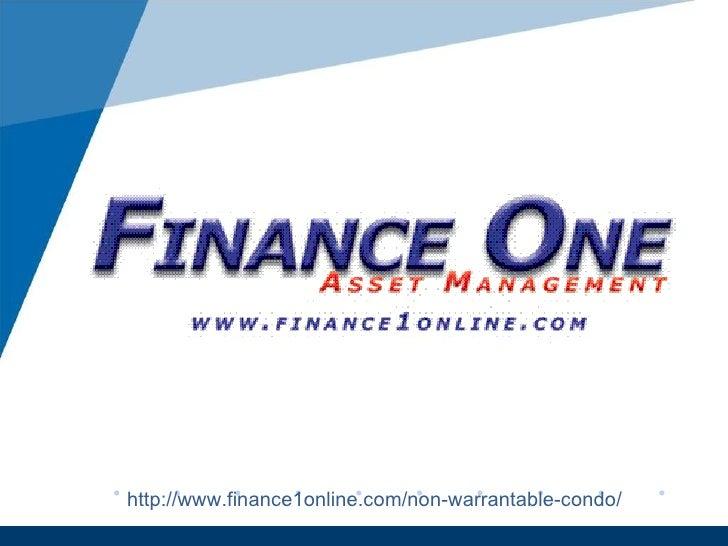 http://www.finance1online.com/non-warrantable-condo/