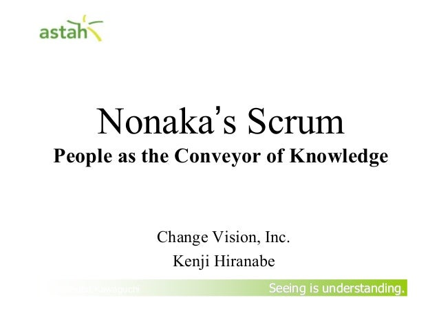 Seeing is understanding.Seeing is understanding.Nonaka's ScrumPeople as the Conveyor of KnowledgeChange Vision, Inc.Kenji ...