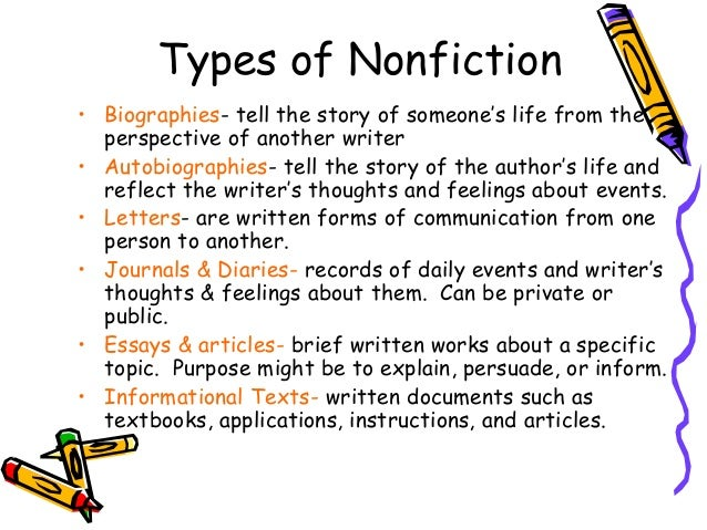 the essay is a nonfiction genre Literary genres: definition, types, characteristics  a third broad literary genre is nonfiction  literary genres: definition, types, characteristics & examples.