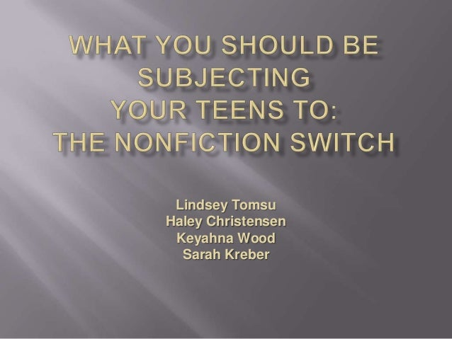 NCompass Live: What You Should Be 'Subjecting' Your Teens To: The Nonfiction Switch