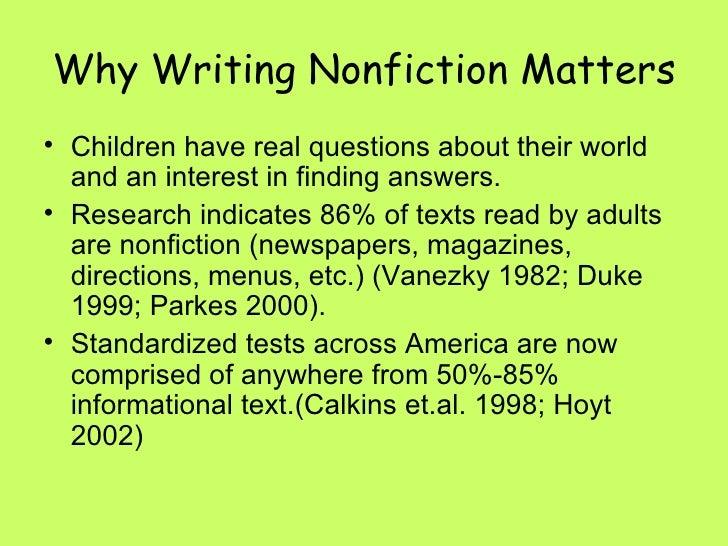 Nonfiction Writing Slideshow Draft