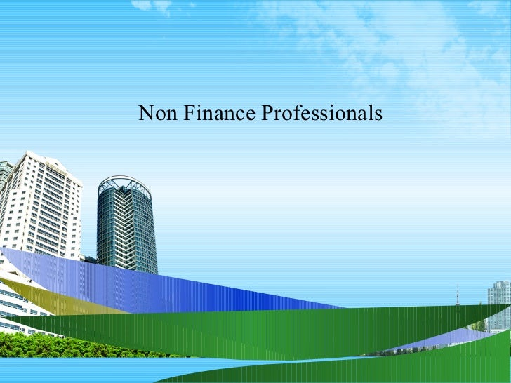 Non Finance Professionals
