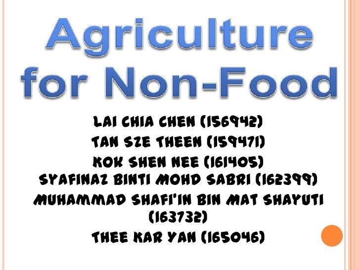 Non food products from plants