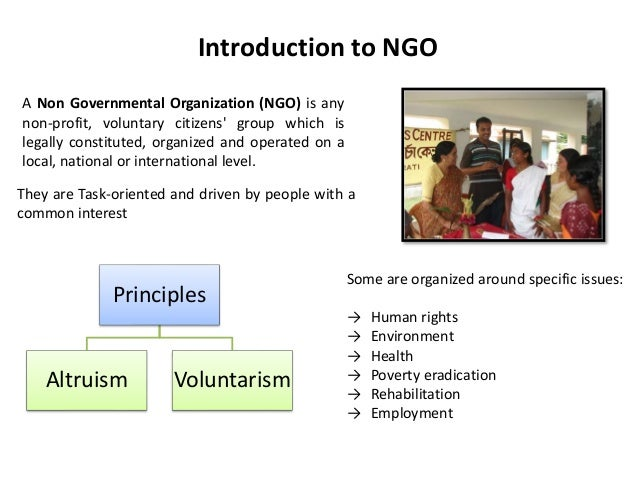 "non governmental organizations essay 5 th e inadequacy of the term ""non-governmental organization"" has long been recognized by ngos and academics (see eg john clark, democratizing development: the role of voluntary."