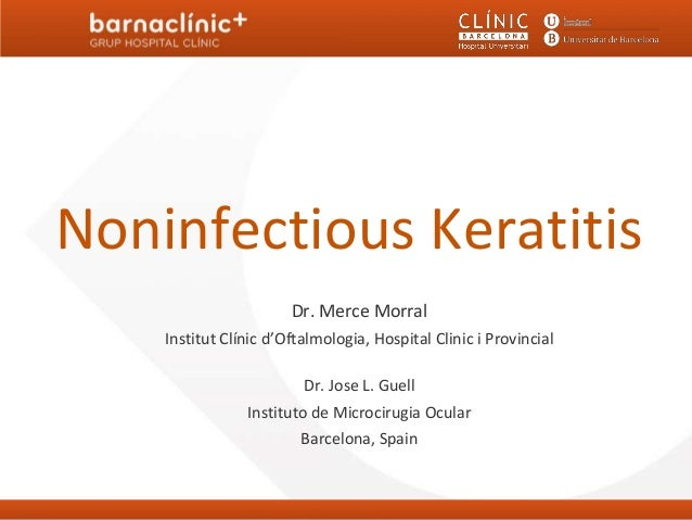 Noninfectious keratitis barnaclinic