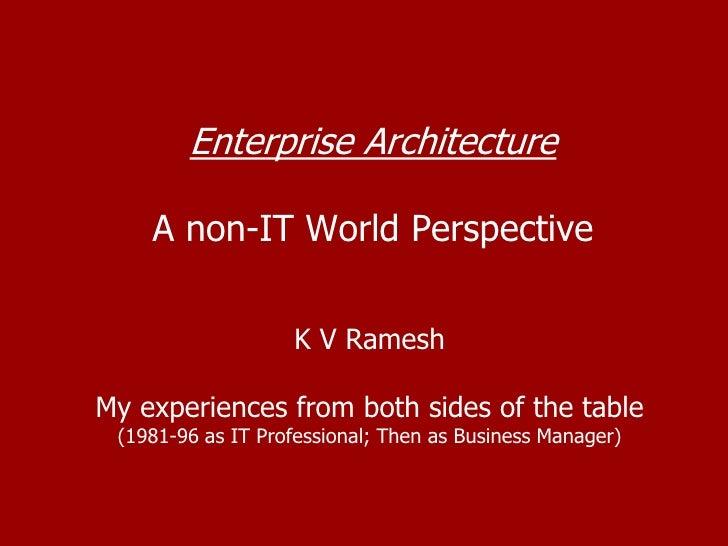Non-IT Enterprise Architecture