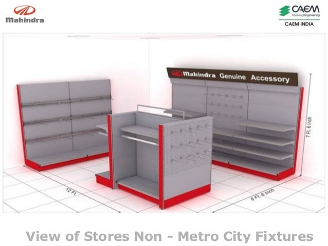 Accessories Display for Mahindra & Mahindra - Non metro cities by CAEM India