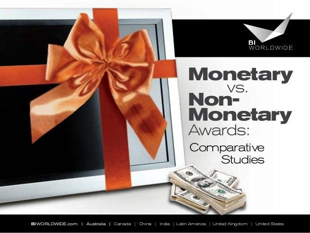 Monetary vs. Non-Monetary Awards: Comparative Studies