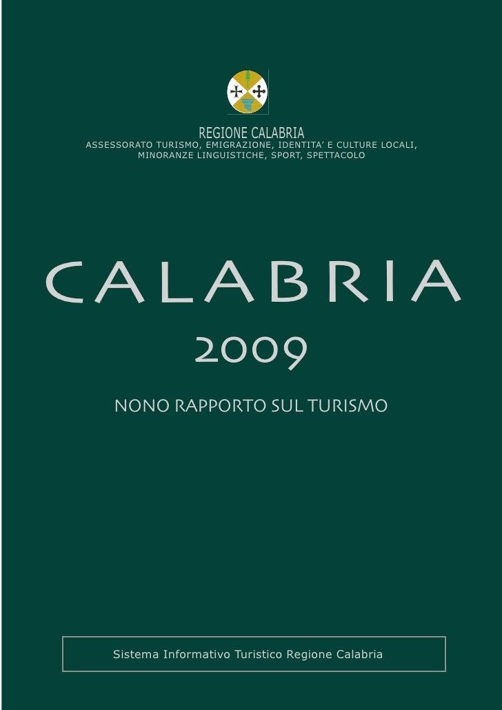 Nono Rapporto sul Turismo Calabria