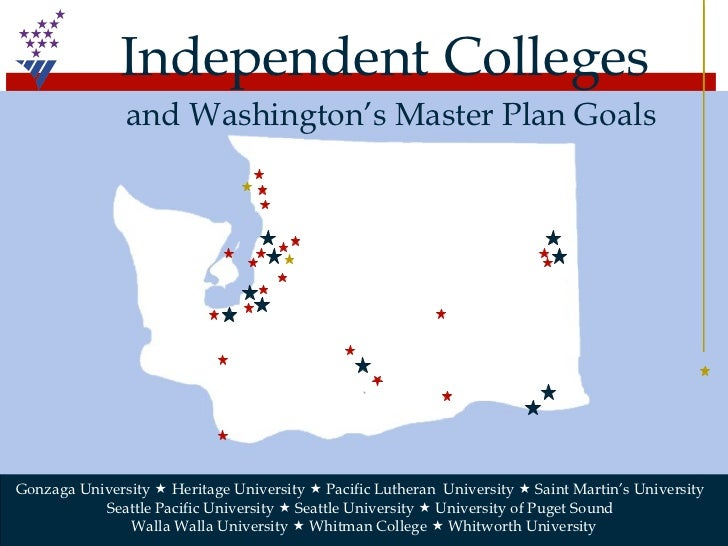 Gonzaga University    Heritage University    Pacific Lutheran  University    Saint Martin's University  Seattle Pacific...