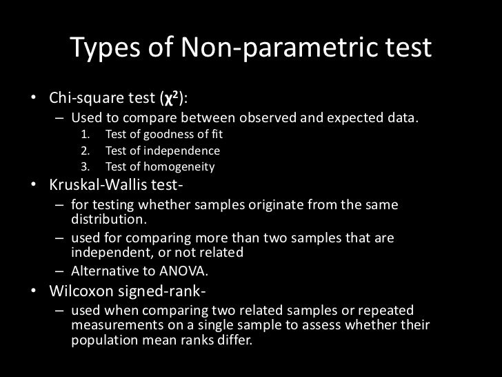 non parametric hypthesis test 12 - the 7 step process of statistical hypothesis testing printer-friendly version  why not simply test the working hypothesis directly.