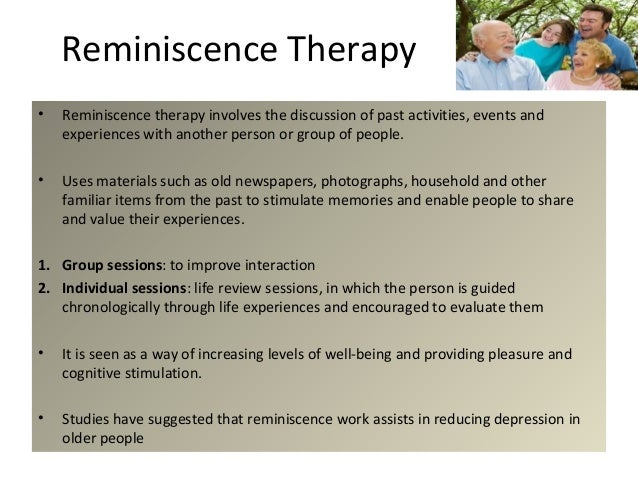 reminiscence and life review group for This study empirically investigates key propositions of a continuity theory  approach to reminiscence  reminiscence life review continuity theory aging.
