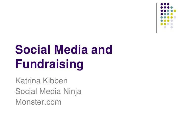 Social Media and NonProfit Fund-raising