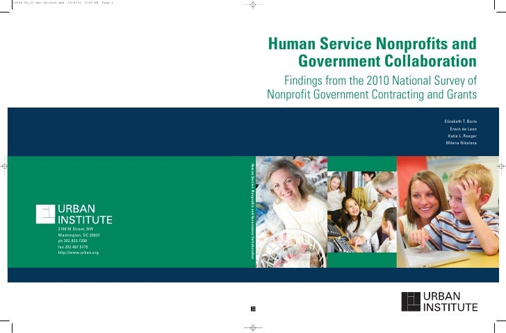 Human Service Nonprofits and   Government Collaboration   Findings from the 2010 National Survey ofNonprofit Government Co...