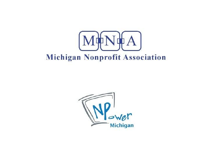 GVSU Nonprofit Tech Overview - Michigan