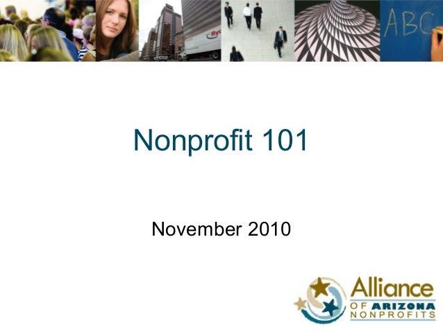 Nonprofit 101 November 2010