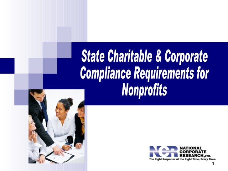 State Charitable Registration & Corporate Compliance Requirements for Nonprofits