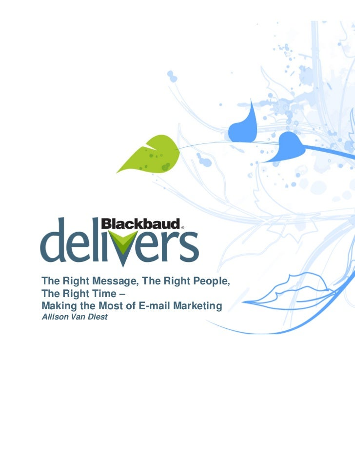 Nonprofit Email Marketing from Blackbaud Delivers