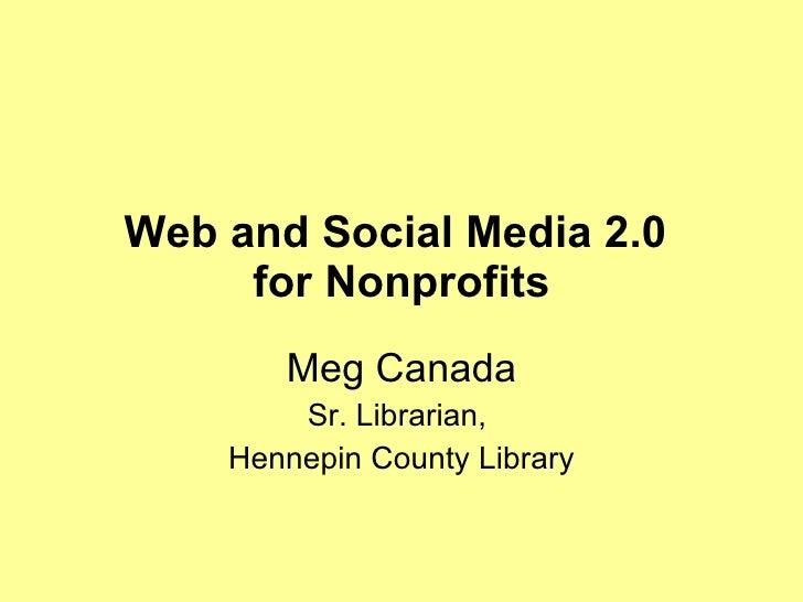 Social Media and Web 2.0 for NonProfits