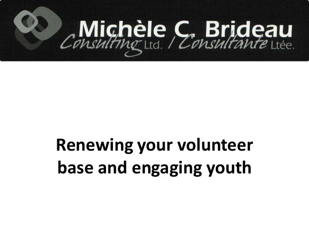 Renewing your volunteer base and engaging youth