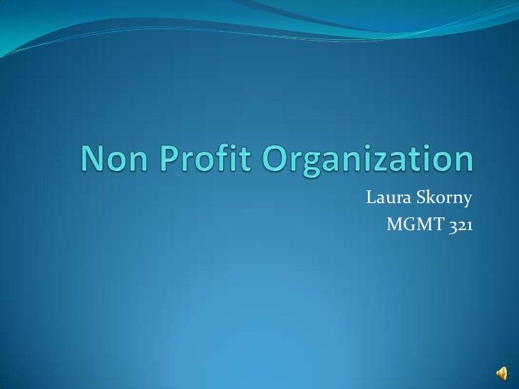 Non Profit Organization <br />Laura Skorny<br />MGMT 321<br />
