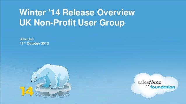 Nonprofit user group winter 14   jl - 111013
