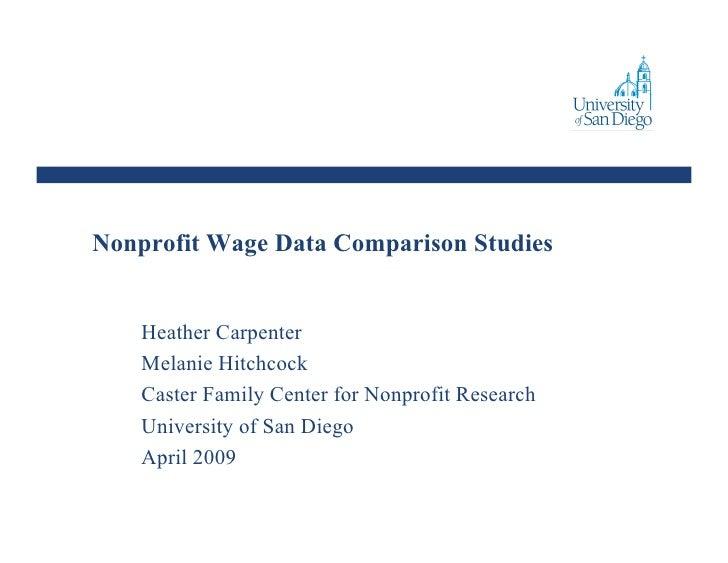 Nonprofit Wage Comparison Studies