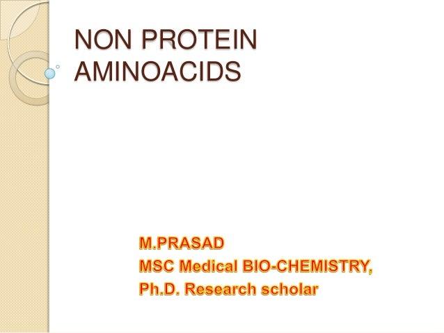 Non protein amino acids
