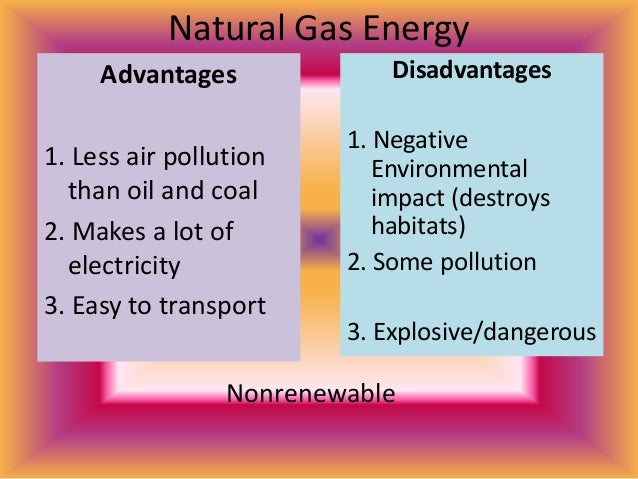 pros and cons of natural gas The two fuel sources we're exploring here are natural gas and electricity compare the pros and cons of gas heaters and gas heater vs electric heater: pros and.
