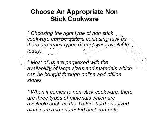 Choose An Appropriate Non Stick Cookware