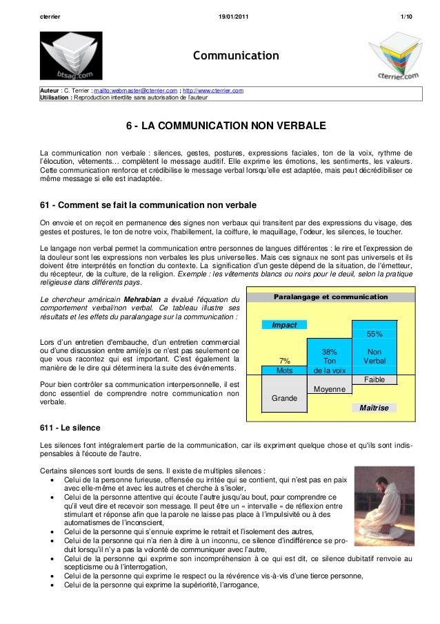 cterrier 19/01/2011 1/10CommunicationAuteur : C. Terrier ; mailto:webmaster@cterrier.com ; http://www.cterrier.comUtilisat...