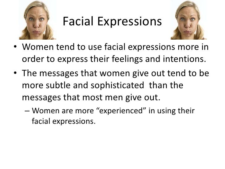 Style Differences in facial expressions take her