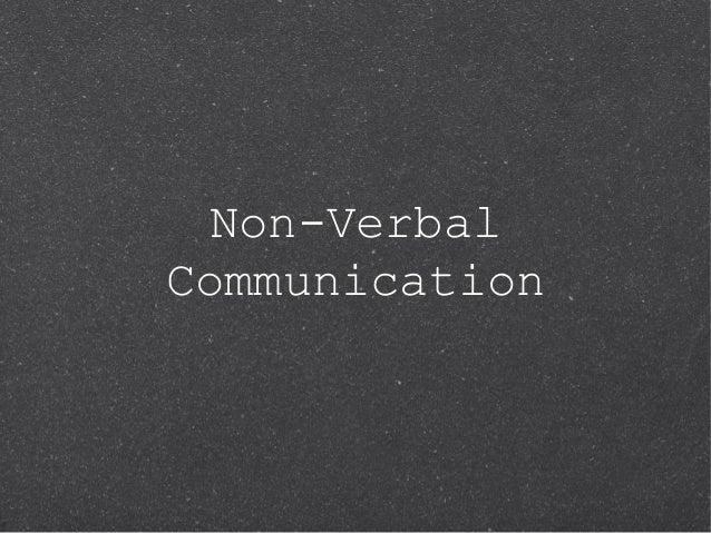 Non-VerbalCommunication