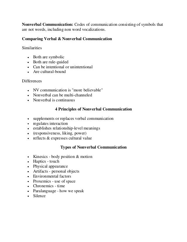 Expressing Verbal And Non Verbal Communication In Nursing Essay