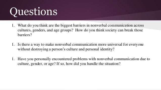 nonverbal communication 3 essay