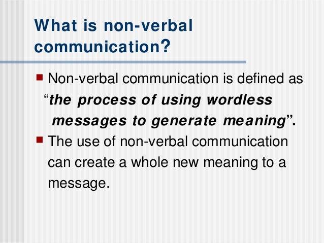 Define nonverbal communication