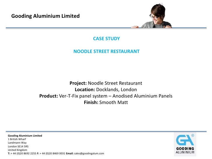 Noodle Street Restaurant - Case Study