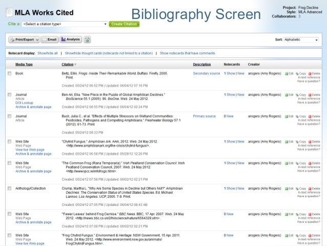 How to create bibliography