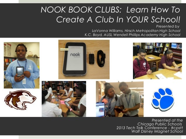Nook Book Clubs: Learn How to Create A Club In Your School! - hirsch and phillips hs