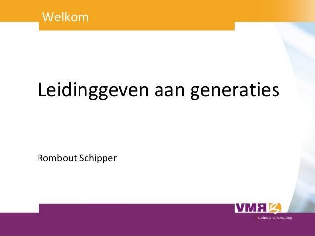 Noorderlink Proeverij 5 maart 2013 - Leidinggeven aan generaties