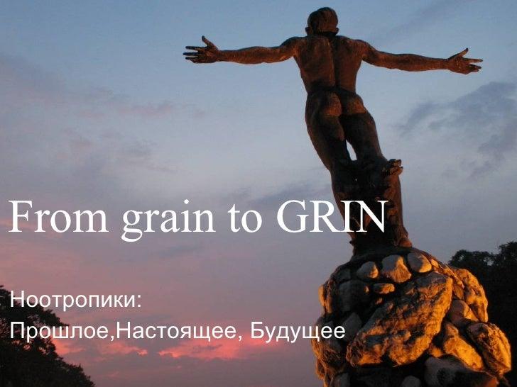 From grain to GRIN Ноотропики :  Прошлое , Настоящее ,  Будущее