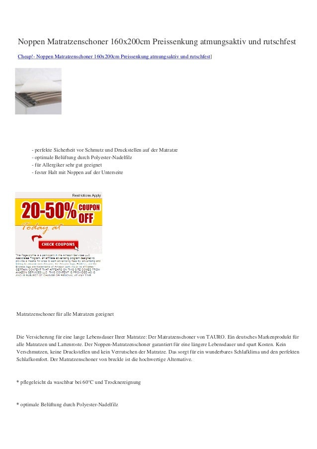 Noppen Matratzenschoner 160x200cm Preissenkung atmungsaktiv und rutschfestCheap!- Noppen Matratzenschoner 160x200cm Preiss...