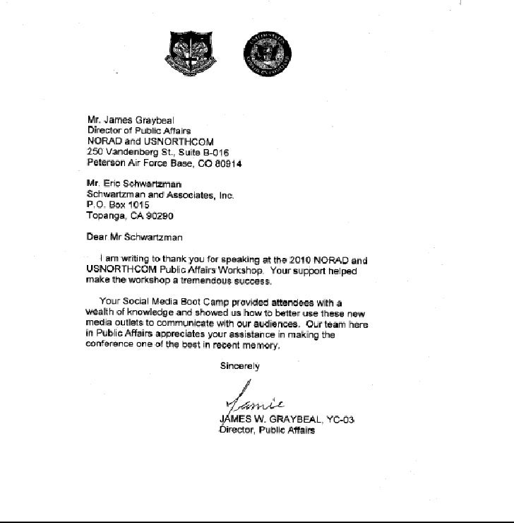 Norad letter