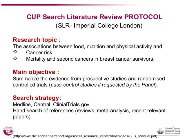 Literature review topics nutrition