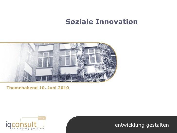 Norbert kunz soziale innovation 20100610