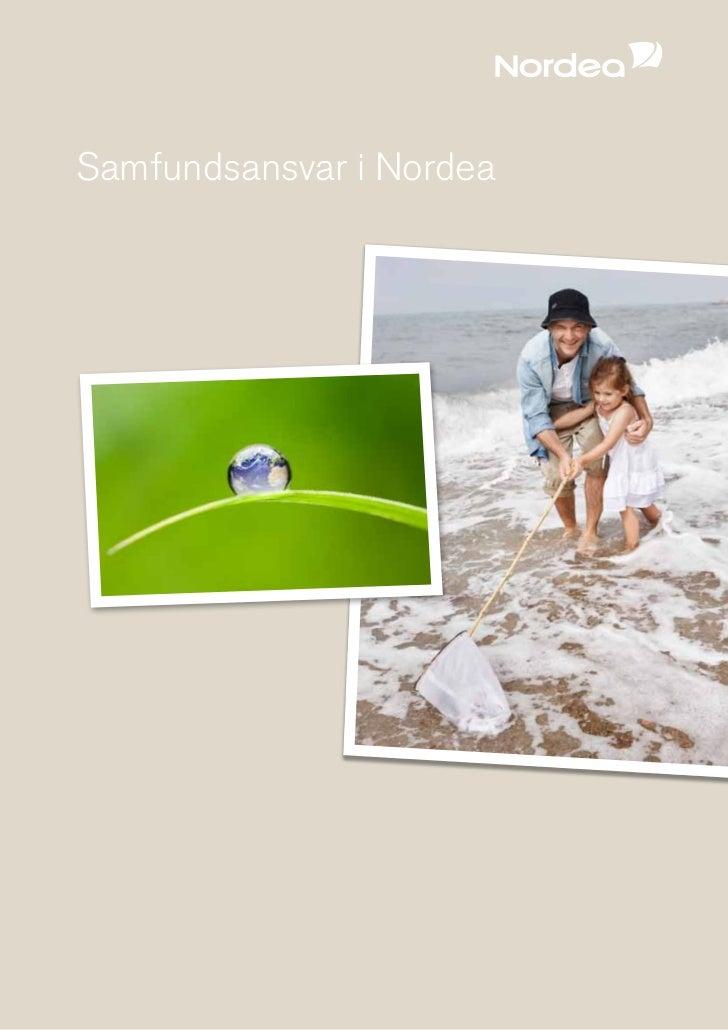 Nordea CSR Rapport