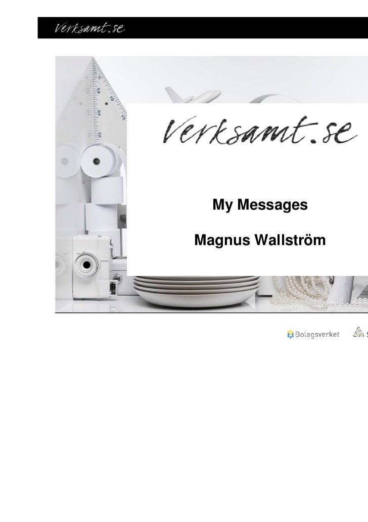 My MessagesMagnus Wallström