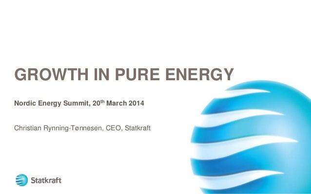 Nordic energy summit 2014