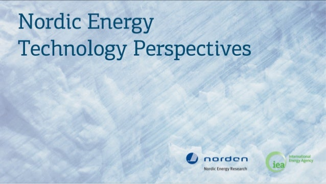 Nordic Energy Technology Perspectives 2012